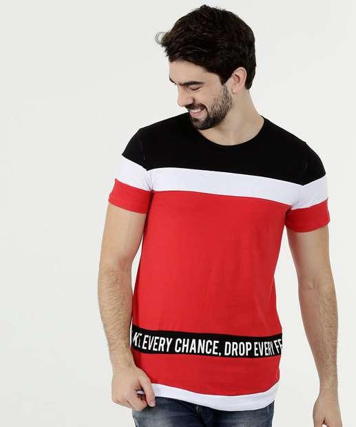 Image_Camiseta Masculina Listras Manga Curta Rock & Soda
