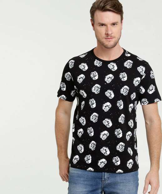 Image_Camiseta Masculina Estampa Star Wars Manga Curta Disney