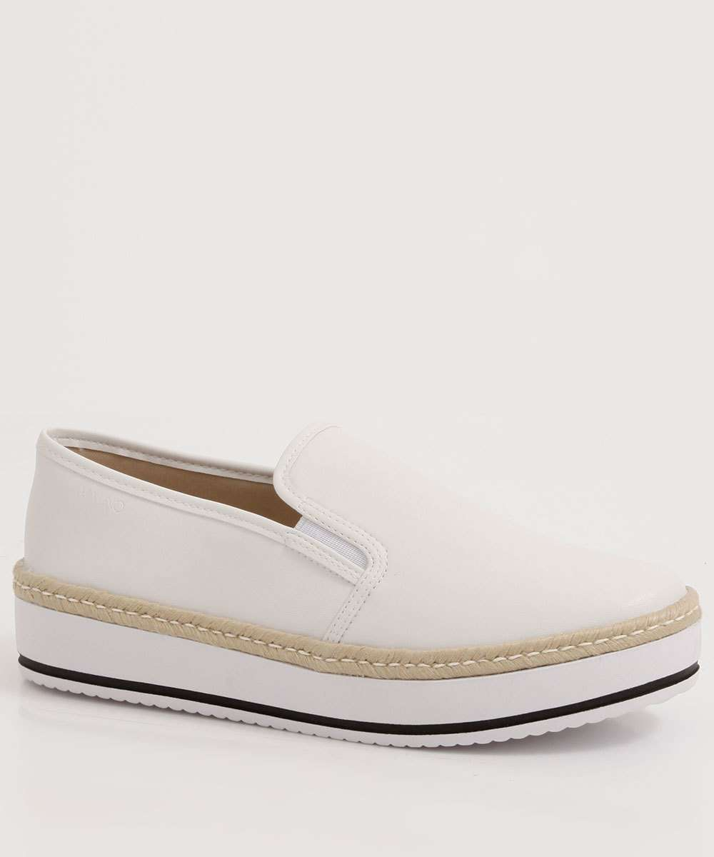 Tênis Feminino Slip On Flatform Via Uno