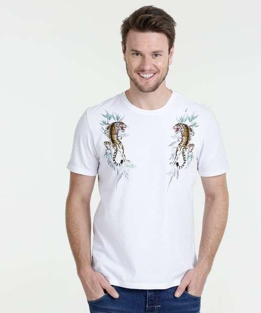 Image_Camiseta Masculina Estampa Tigre Manga Curta Marisa