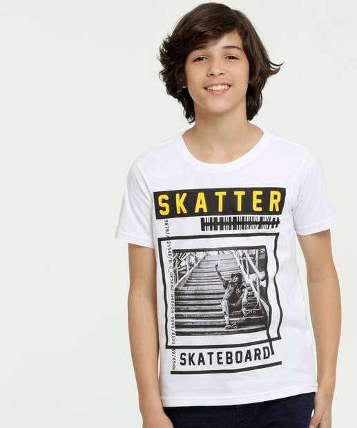 Image_Camiseta Juvenil Estampa Skate Manga Curta