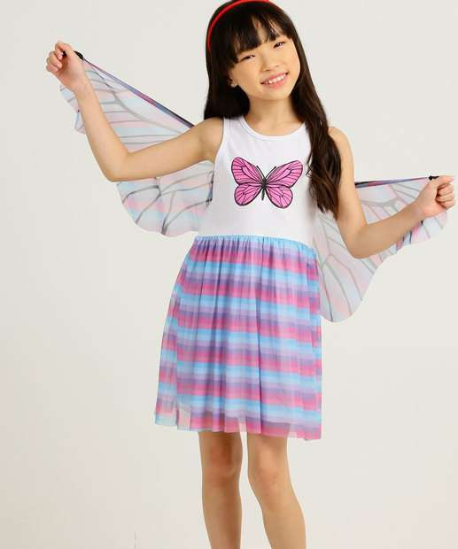 Image_Vestido Infantil Fantasia Borboleta Tam 4 a 10