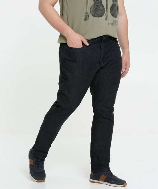 Image_Calça Masculina Jeans Slim Bolsos Plus Size MR