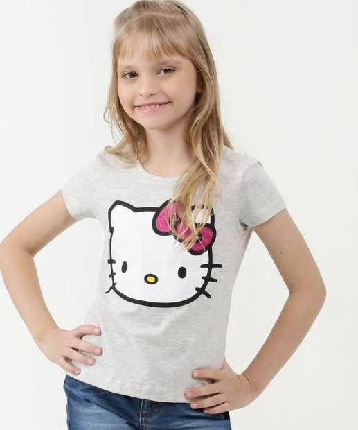 Image_Blusa Infantil Estampa Hello Kitty Manga Curta Sanrio