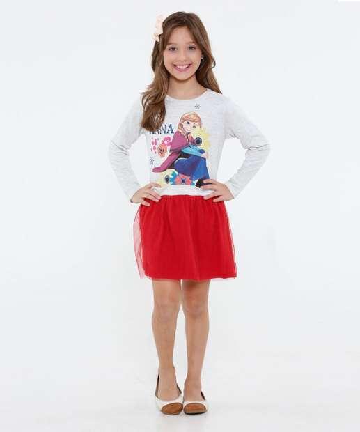 Image_Vestido Infantil Moletinho Frozen Disney