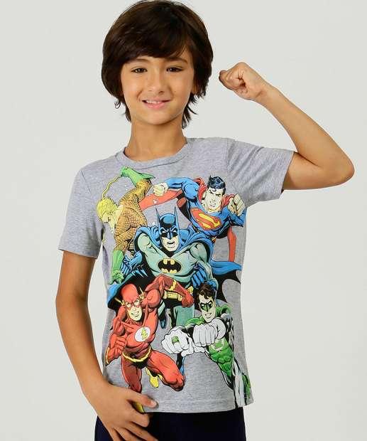 Image_Camiseta Infantil Estampa Heróis Liga da Justiça Tam 4 a 10