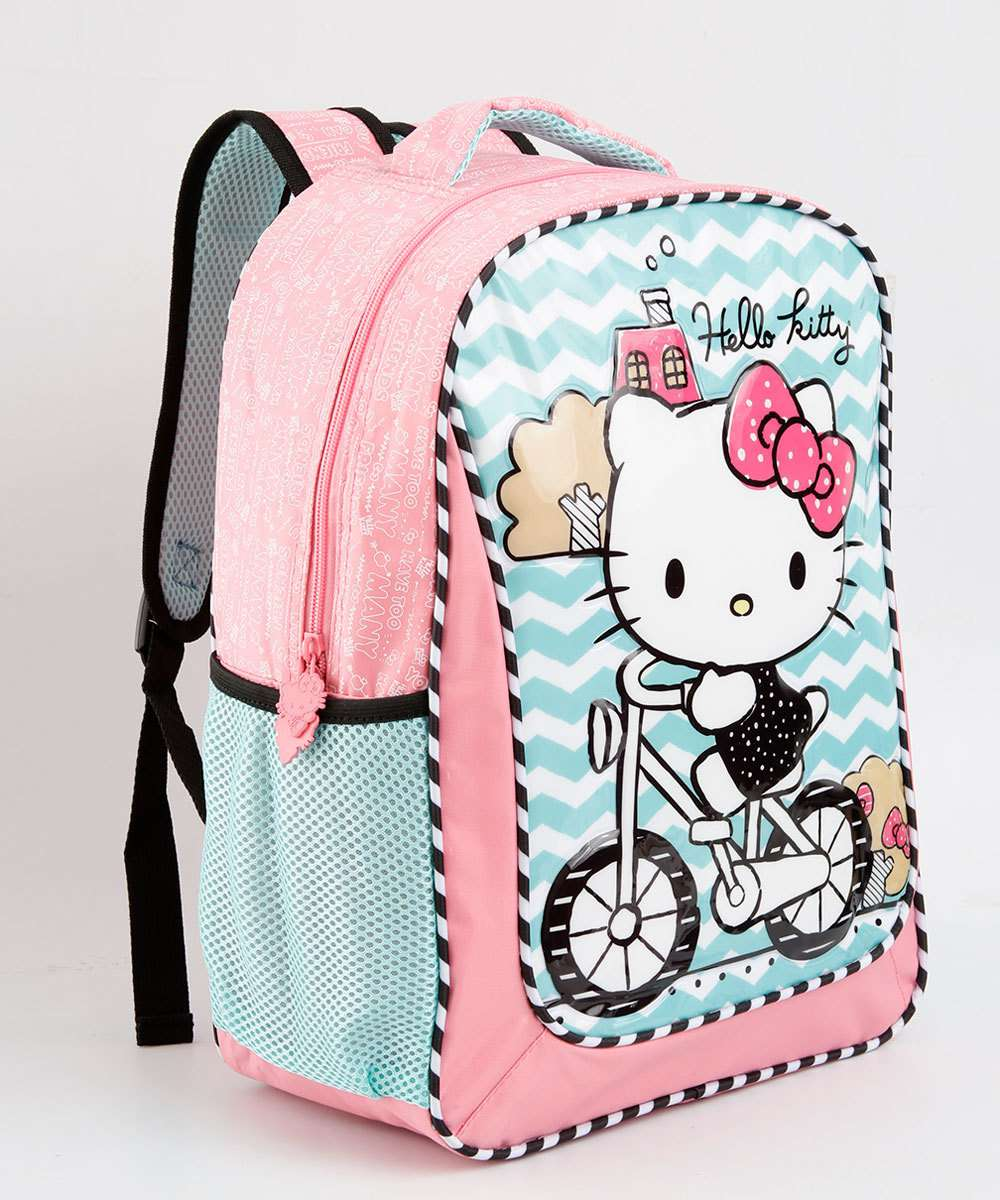 Mochila Escolar Infantil Estampa Hello Kitty Sanrio
