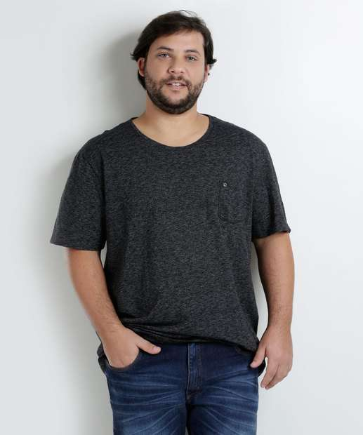 Image_Camiseta Masculina Plus Size Manga Curta Khom