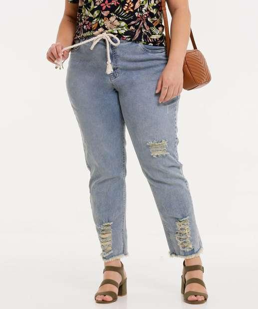 Image_Calça Plus Size Feminina Jeans Destroyed Cigarrete Marisa