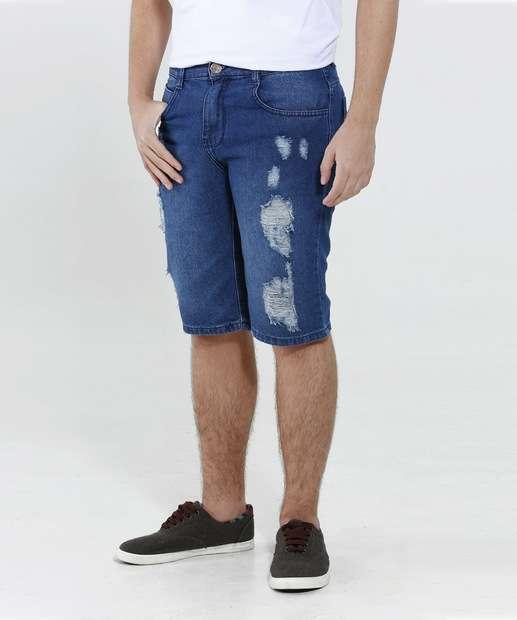 Image_Bermuda Juvenil Jeans Destroyed Marisa