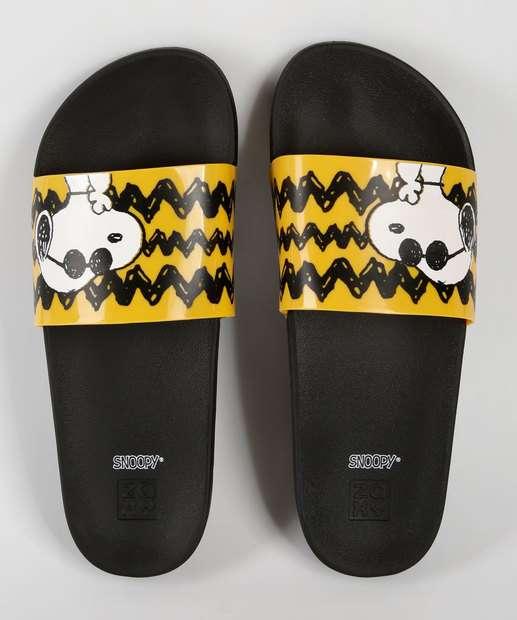 4f5560aba1 Chinelo Feminino Slide Snoopy Zaxy