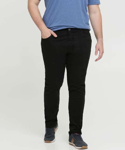Image_Calça Masculina Sarja Skinny Plus Size Razon