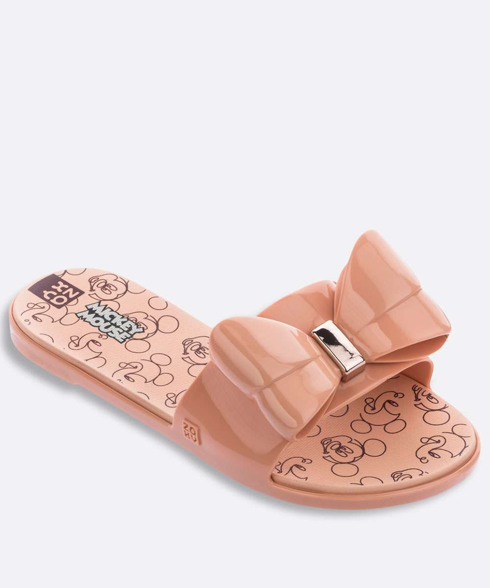 Chinelo Slide Feminino Estampado Joy Mickey Zaxy