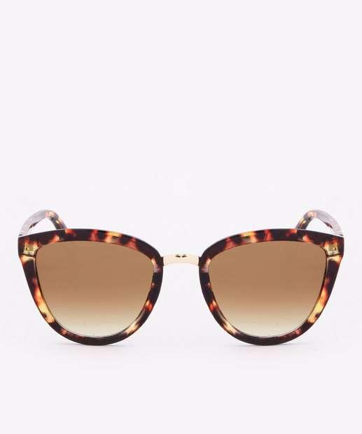 Image_Óculos de Sol Feminino Gateado Tortoise Shell Metalizado Marisa