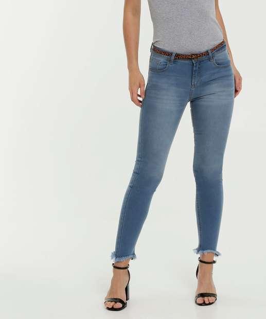 Image_Calça Feminina Jeans Skinny Barra Desfiada Marisa
