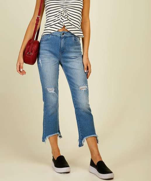 Image_Calça Jeans Destroyed Capri Feminina Sawary