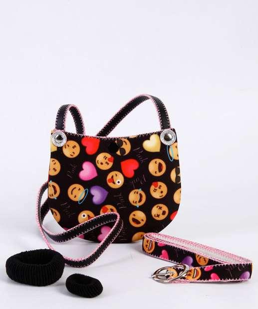 Image_Kit Bolsa Infantil Estampa Emoji Marisa