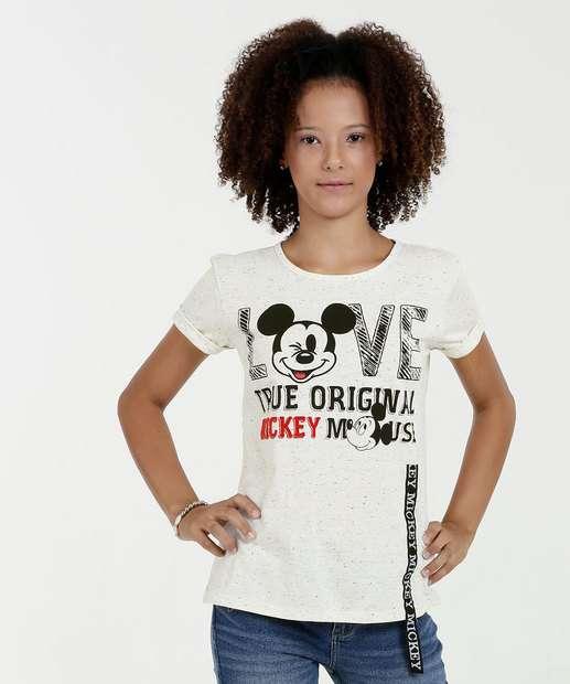 Image_Blusa Juvenil Estampa Mickey Mickey Manga Curta Disney