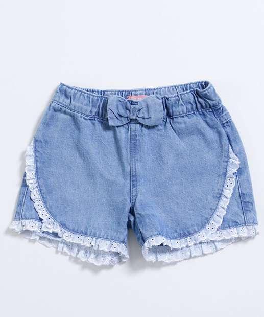 Image_Short Infantil Jeans Laço Laise Marisa
