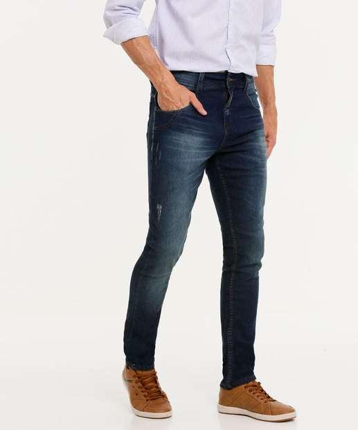 Image_Calça Masculina Jeans Slim Puídos Biotipo