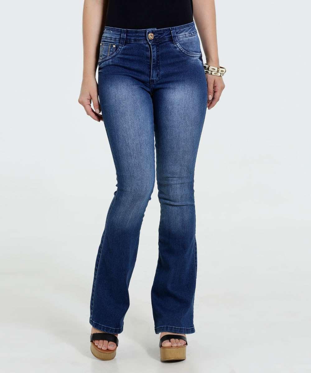Image_Calça Feminina Flare Jeans Stretch Biotipo