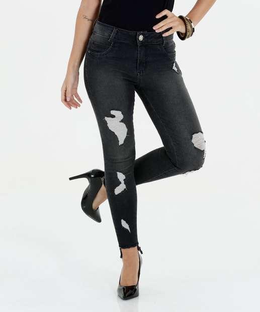 Image_Calça Feminina Jeans Destroyed Cigarrete Sawary