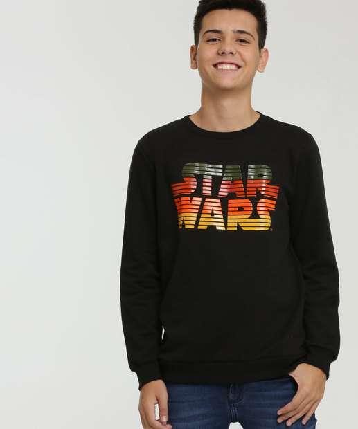 Image_Blusão Juvenil Moletom Estampa Star Wars Disney