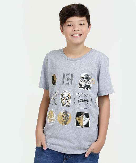 Image_Camiseta Juvenil Estampa Star Wars Manga Curta Disney