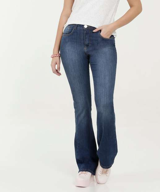 Image_Calça Feminina Jeans Flare Stretch Razon