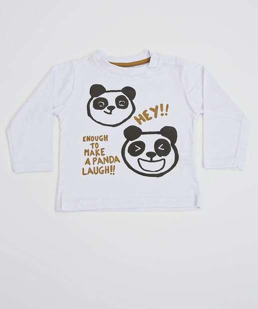 Image_Camiseta Infantil Bebê Estampa Panda Manga Longa