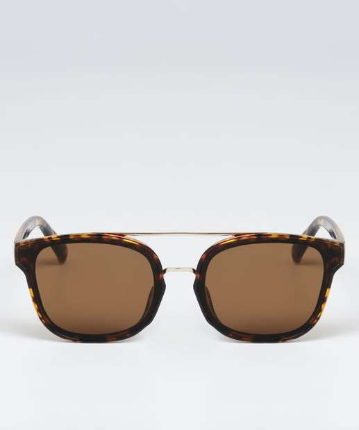 Image_Óculos de Sol Feminino Quadrado Estampa Animal Print Marisa