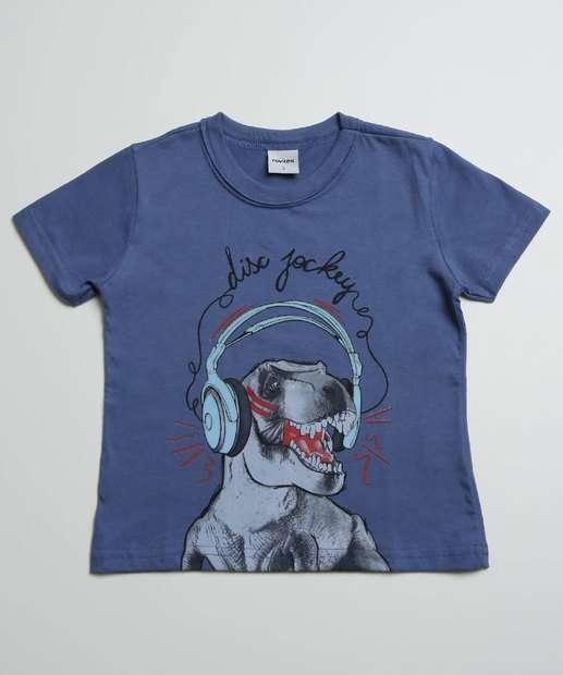 Image_Camiseta Infantil Manga Curta Estampa Dinossauro Tam 1 a 3
