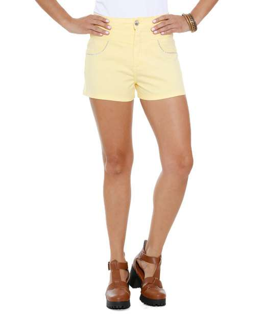 Image_Short Feminino Hot Pants Sarja Strass Marisa