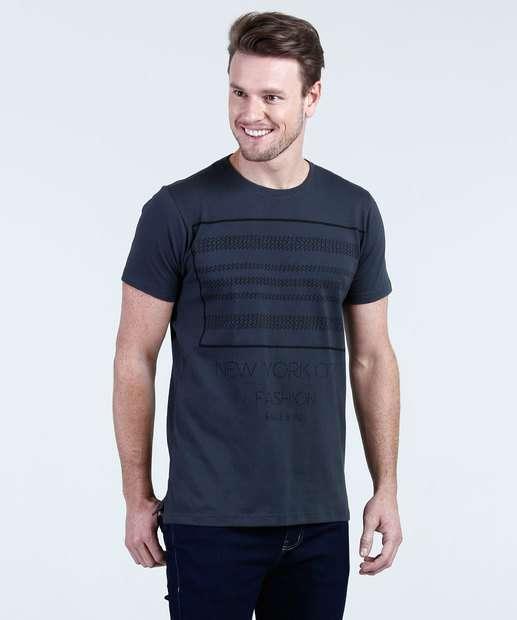 Image_Camiseta Masculina Estampa Frontal Aguia Tex