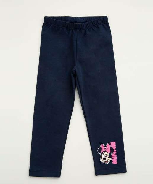 Image_Calça Infantil Legging Estampa Frontal Minnie Disney