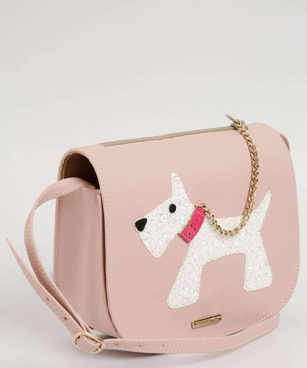 Bolsa Infantil Transversal Cachorro Glitter