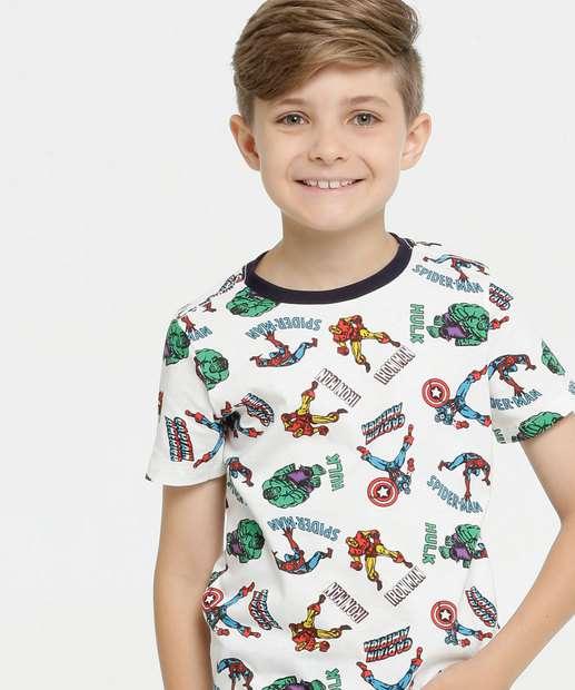 Image_Camiseta Infantil Estampa Heróis Manga Curta Marvel