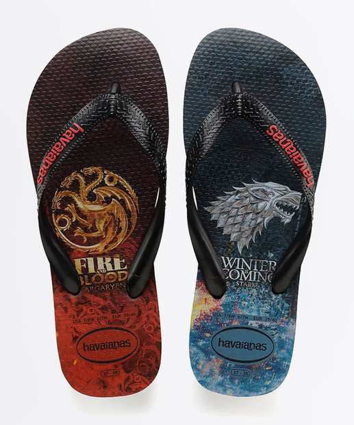 59275a8b5 Chinelo Masculino Game Of Thrones Havaianas