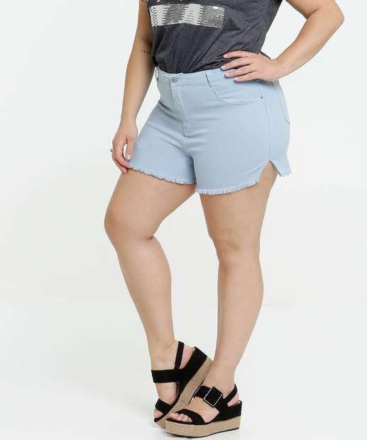 Image_Short Feminino Jeans Barra Desfiada Plus Size