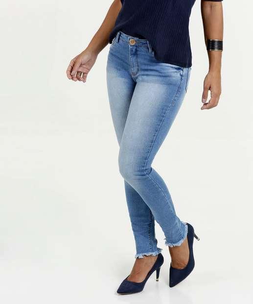 Image_Calça Feminina Jeans Skinny Cintura Média Five Jeans