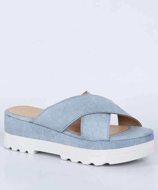 Image_Tamanco Feminino Flatform Tratorado Jeans Via Uno
