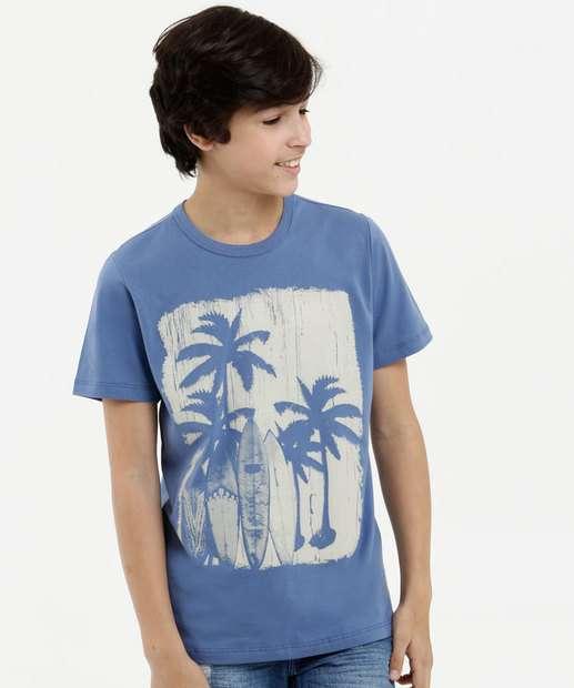 Image_Camiseta Juvenil Estampa Coqueiros Manga Curta