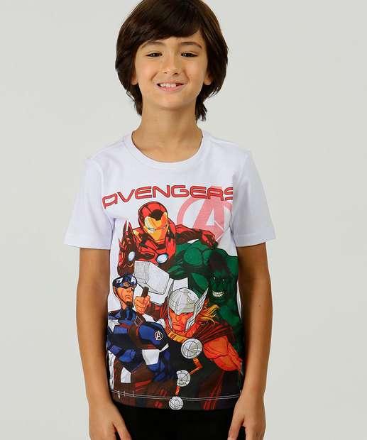 Image_Camiseta Infantil Manga Curta Vingadores Marvel Tam 4 a 10