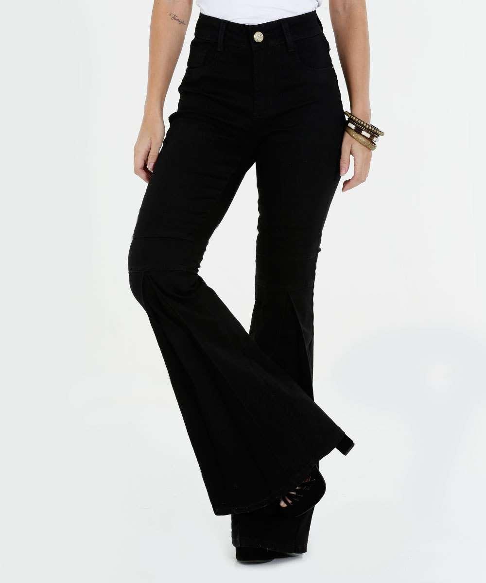 a68c7452d Calça Feminina Jeans Flare Sawary | Marisa