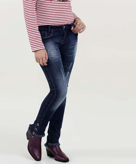 Image_Calça Juvenil Jeans Skinny Puídos