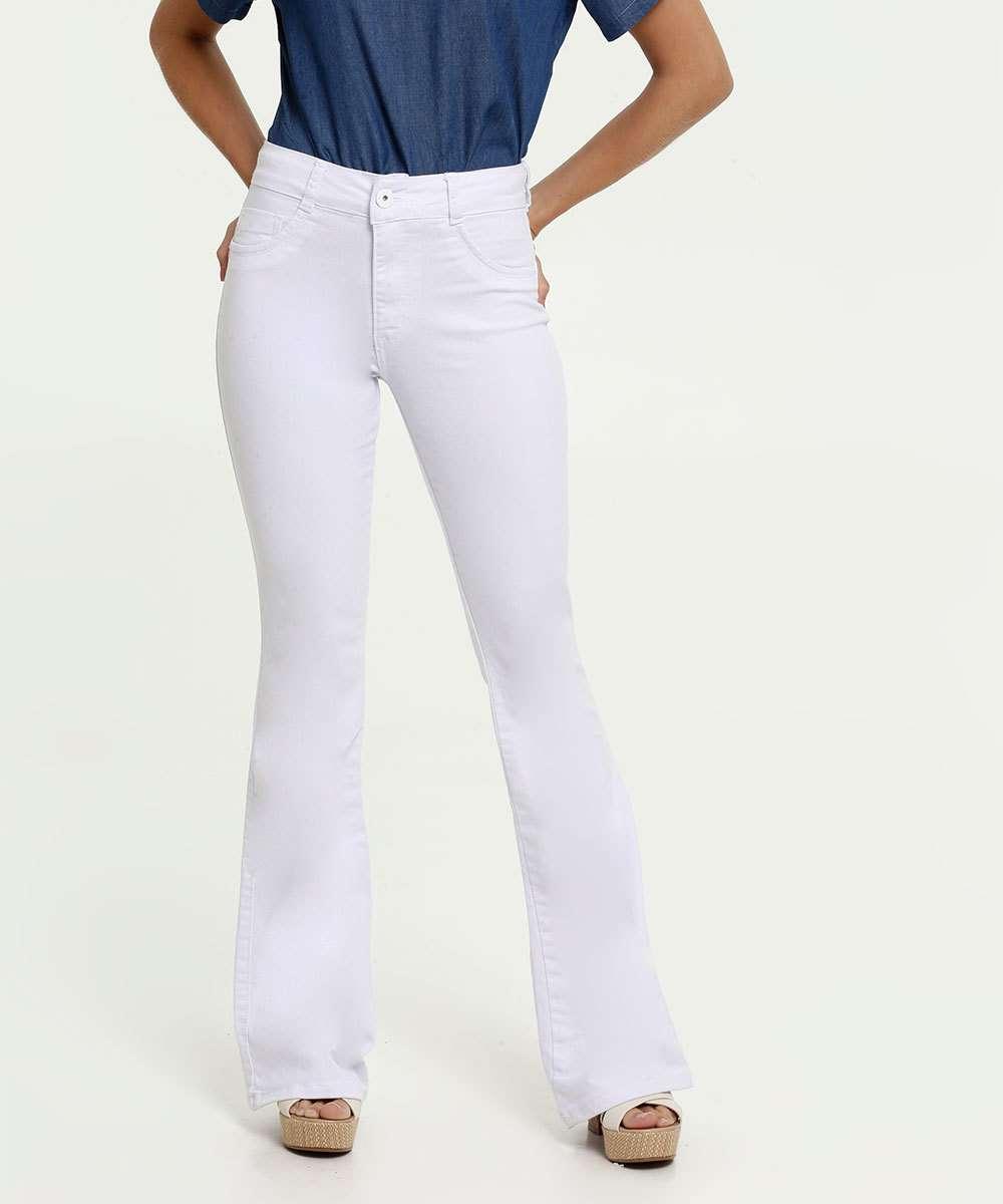 Calça Feminina Jeans Flare Stretch Biotipo