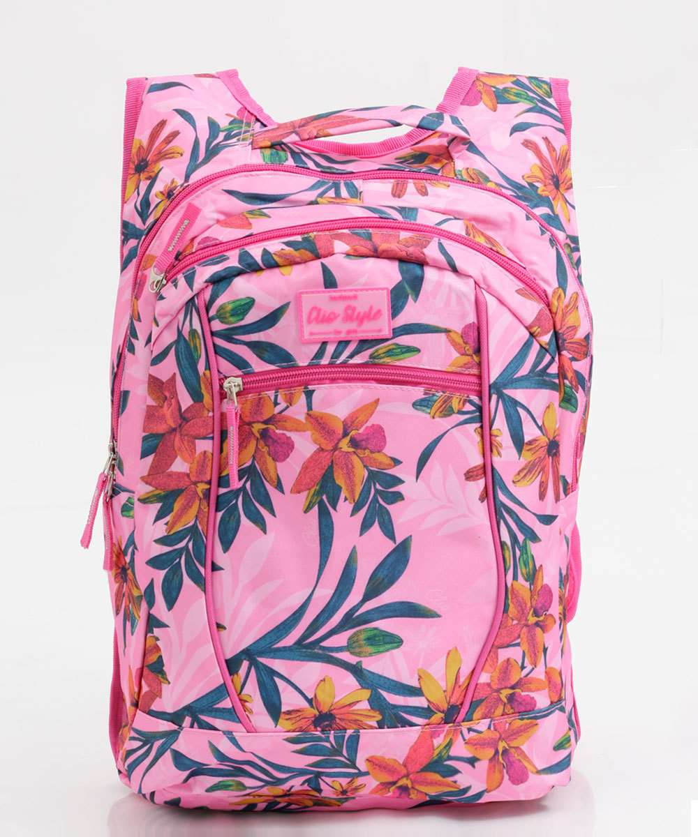Mochila Feminina Estampa Tropical Clio