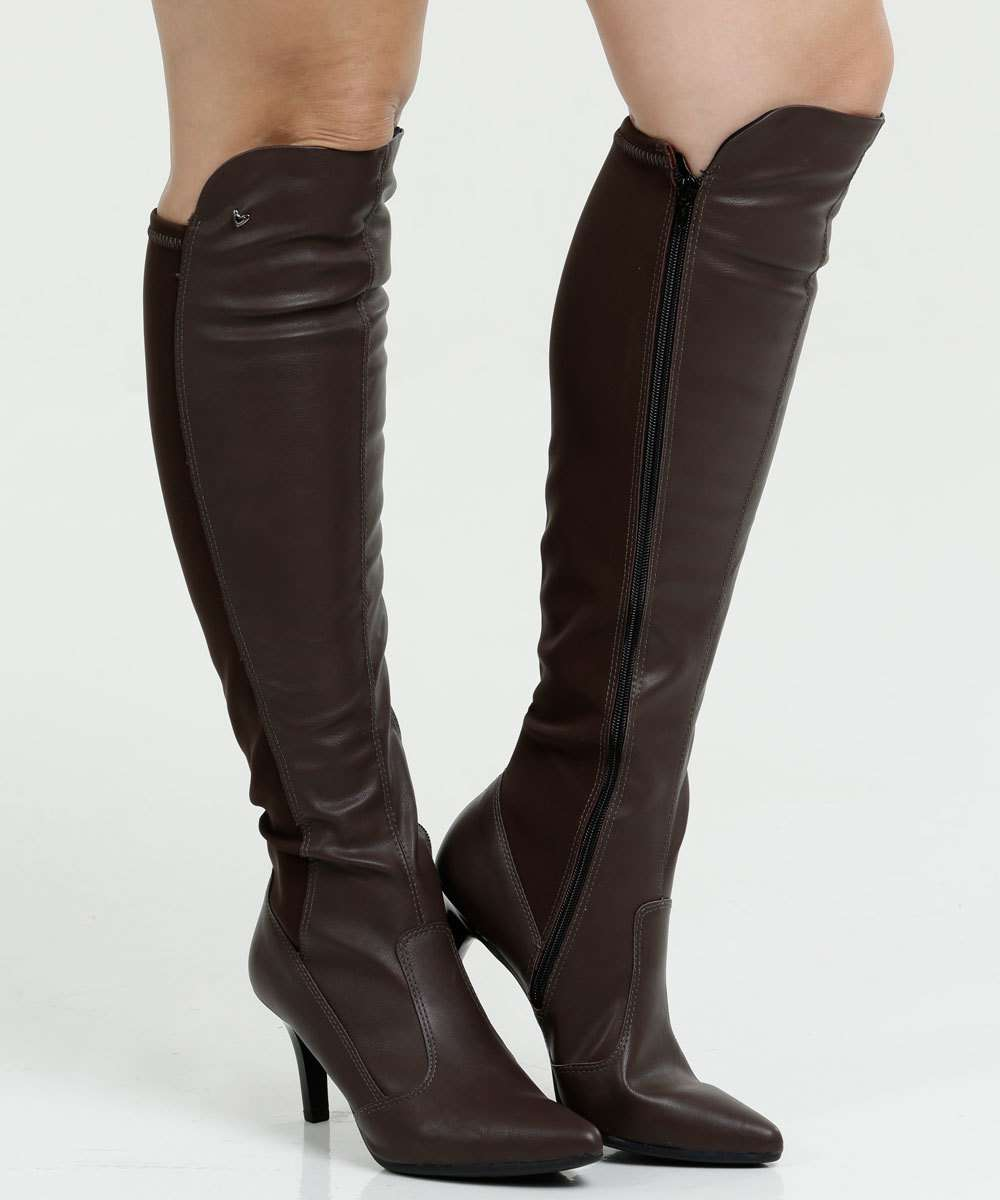 Bota Feminina Over The Knee Bico Fino Mississipi X9184