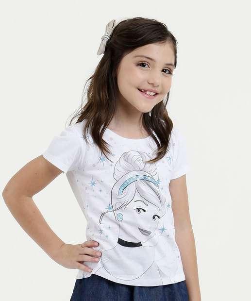 Image_Blusa Infantil Estampa Cinderela Manga Curta Disney