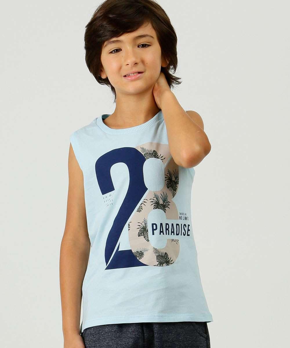 Regata Infantil Estampa Frontal Tam 4 a 10